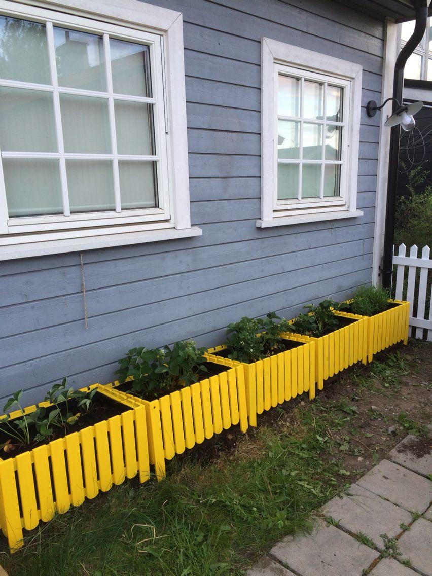 Askholmen DIY flower box yellow | Patio fence, Ikea outdoor ... on