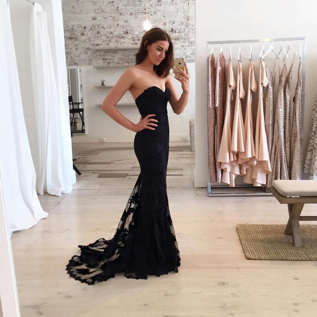 Stunning abbienoonan in elle zeitoune angelique gown available charming black sweetheart neck lace train long prom dress black evening dress new arrival prom dress mermaid prom dress formal dresses ombrellifo Images
