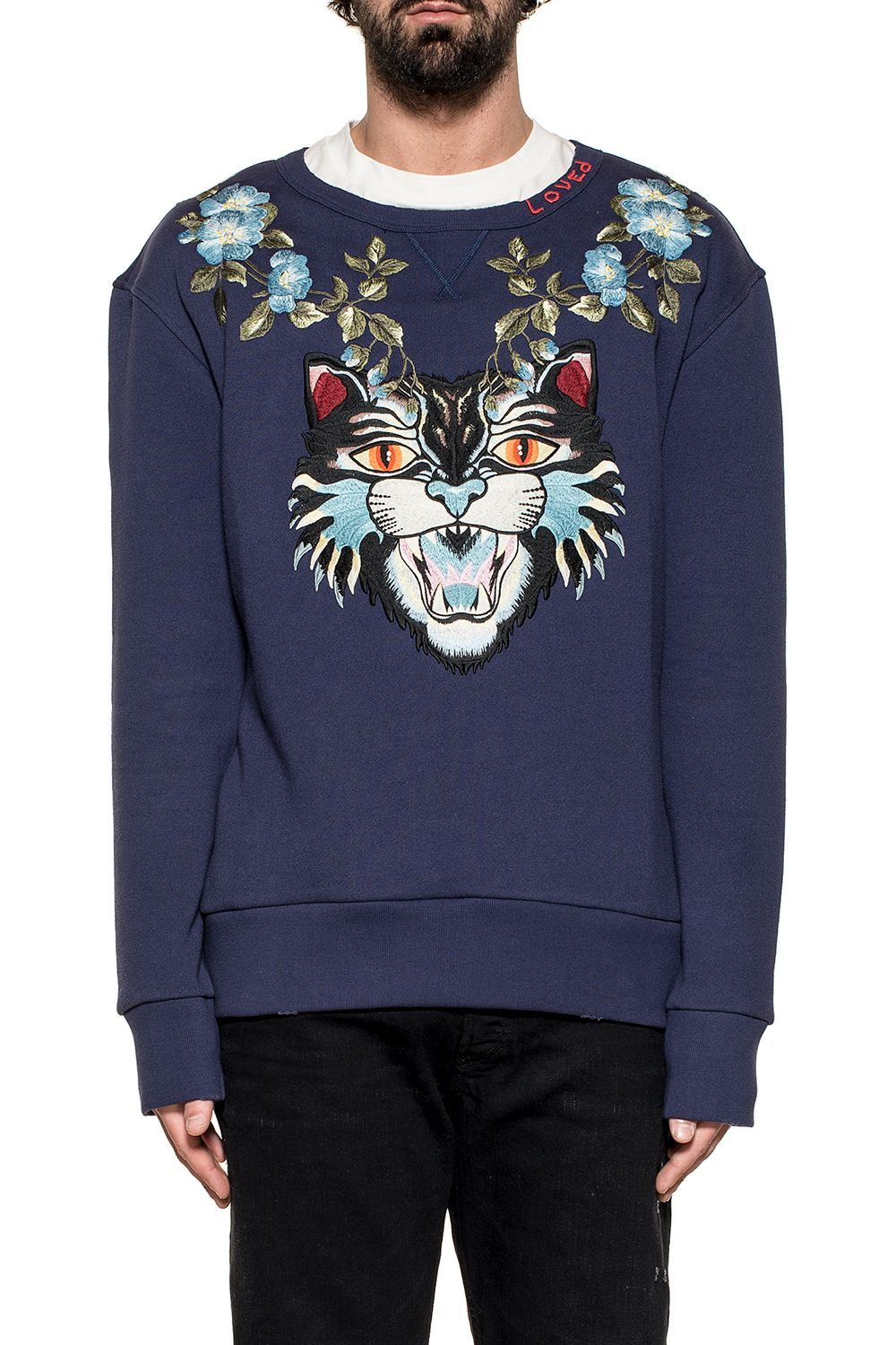GUCCI BLUE ANGRY CAT SWEATSHIRT.  gucci  cloth     Gucci Men ... 33157d81b1b
