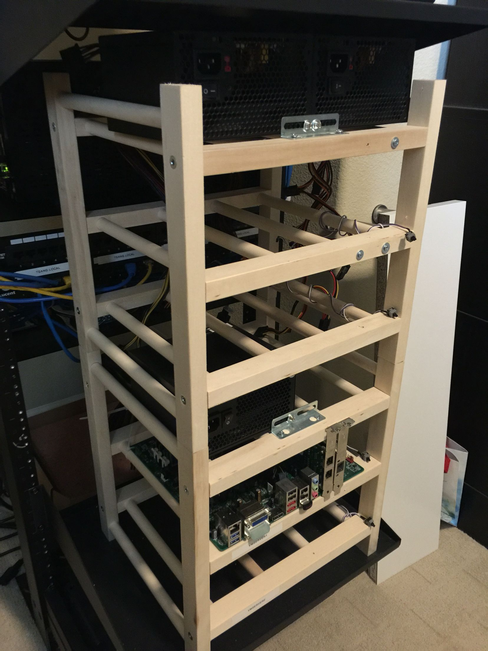 ikea 39 s hutten wine rack doubles as the perfect motherboard