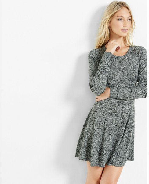 https://goo.gl/brtlMt #ootd #dress #fashion Express hint of cashmere fit and flare sweater dress