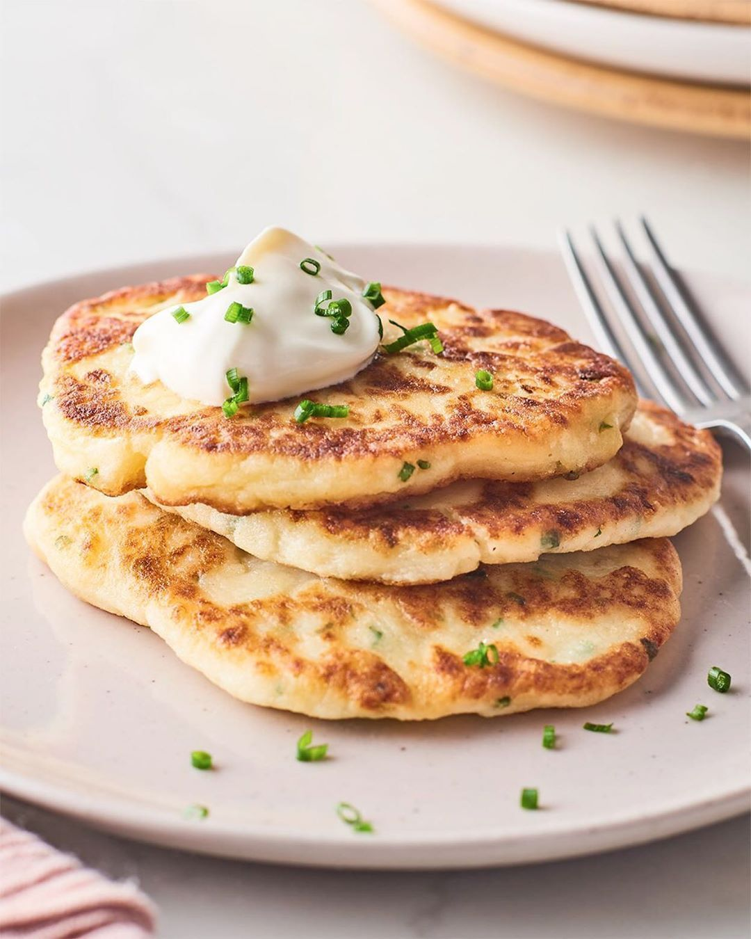 "Kitchn on Instagram: ""The only thing better than leftover mashed potatoes is leftover mashed potatoes that you turned into crispy potato pancakes!  Serve them…"" #potatopancakesfrommashedpotatoes #potatopancakesfrommashedpotatoes"