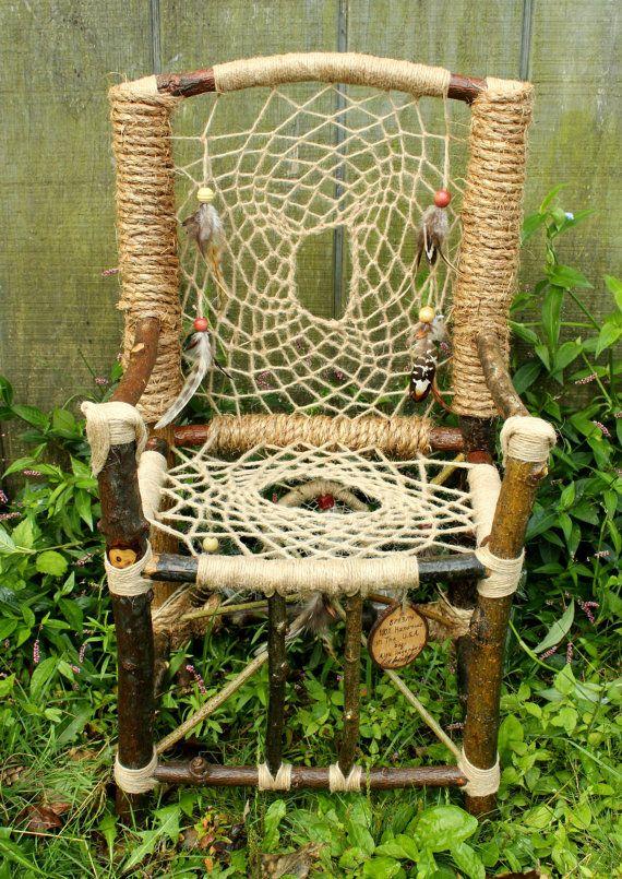 Dream Catcher Chair No 15 Mini Recycled Tree Limb