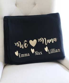 black gold grandma personalized blanket gift ideas pinterest