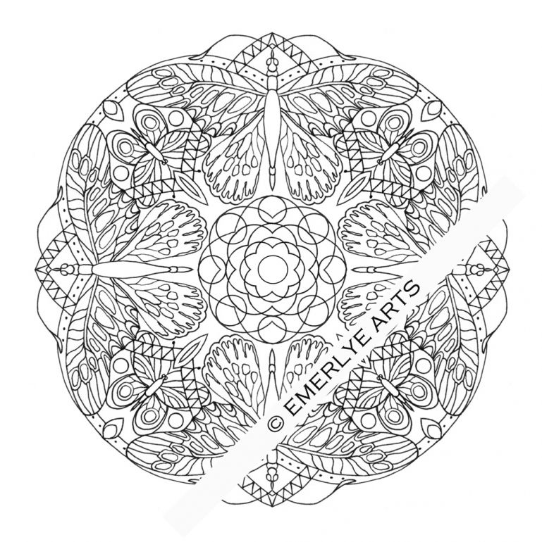 Dragonfly Mandala Coloring Pages | Cartoon | Pinterest | Mandala ...