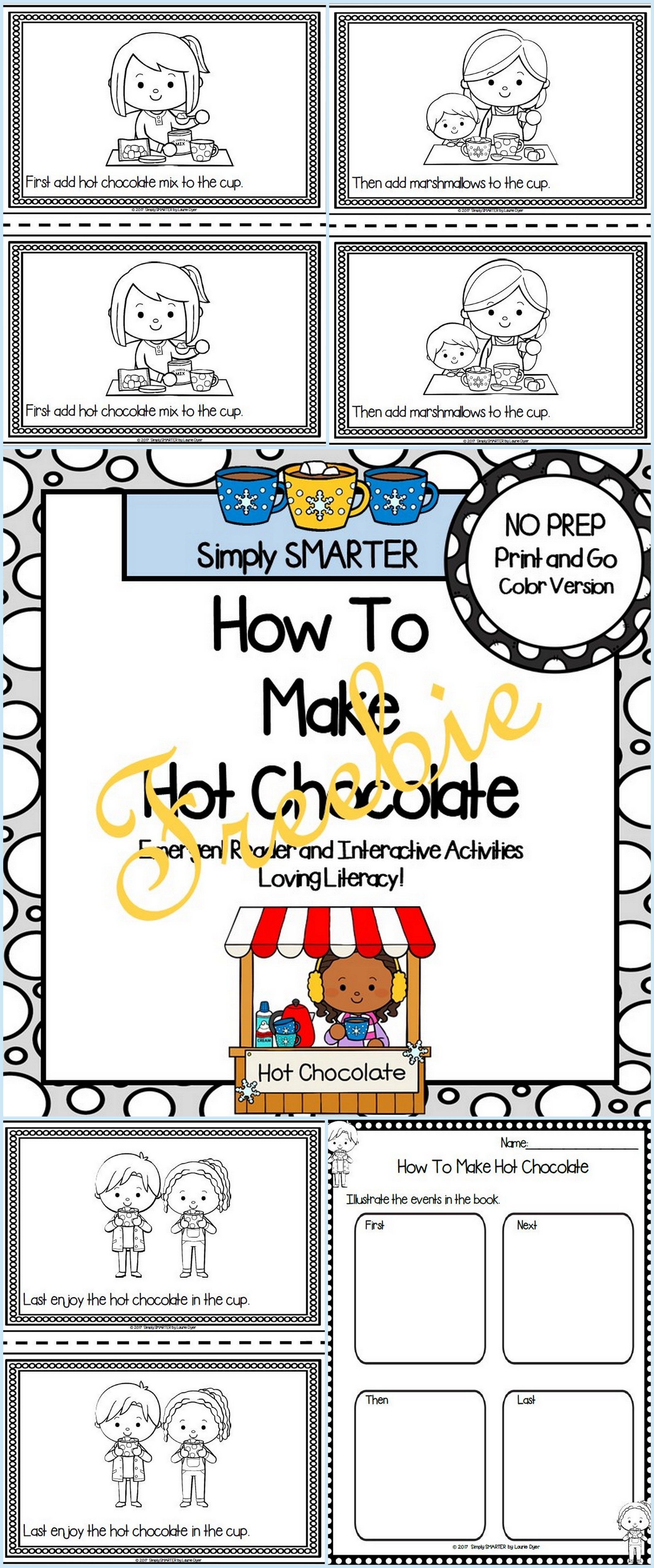 How To Make Hot Chocolate Emergent Reader Book And