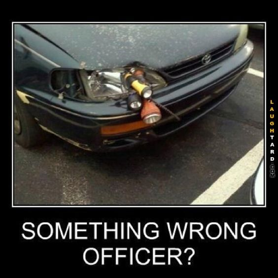 Something wrong officer