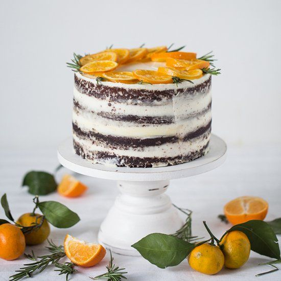 CHOCOLATE CAKE WITH CITRUS CURD (foodgawker)