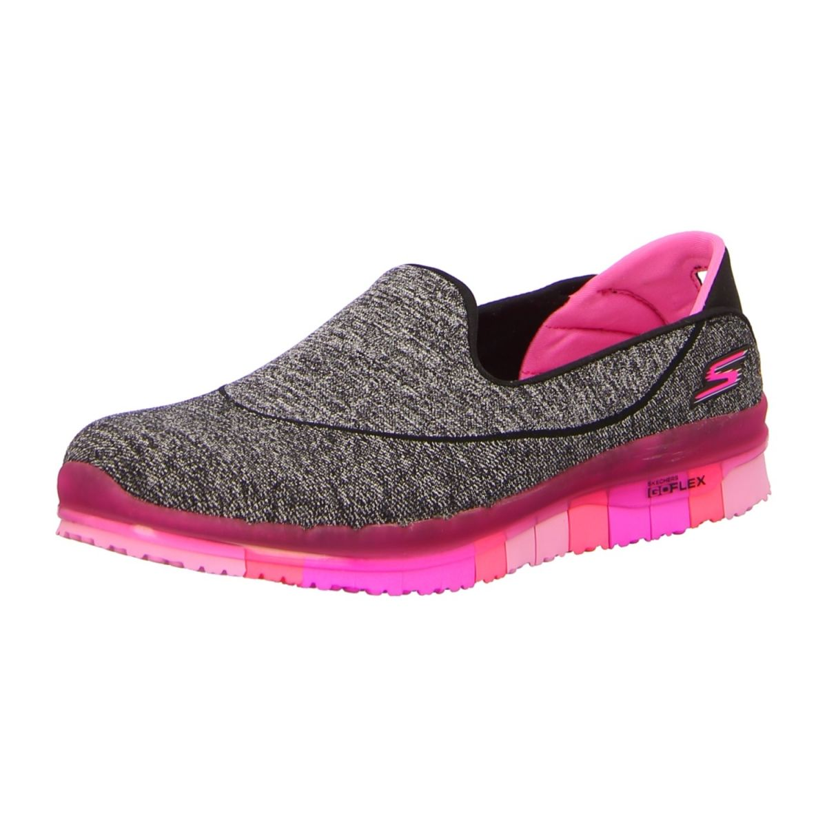 NEU: Skechers Sneaker Slipper GoFlex - 14010 BKHP - black/hot pink -