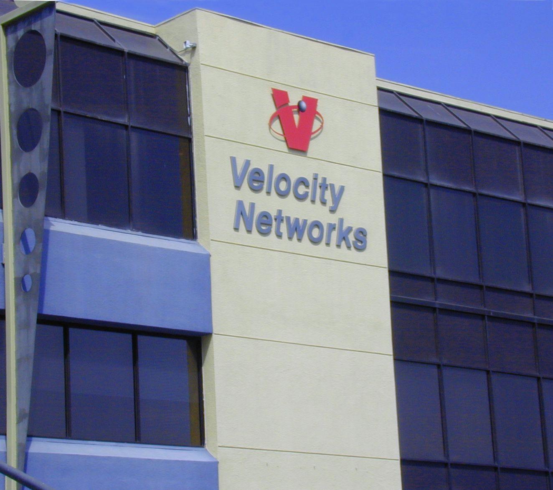 Velocity Networks, logo designed by Rick Plumley at BrandZing.