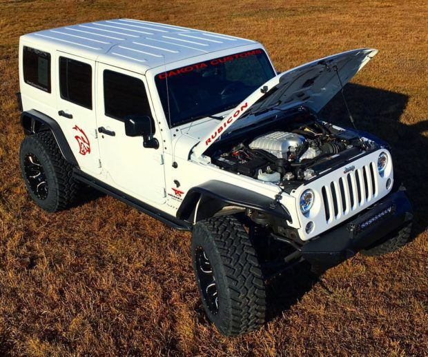 Jeep Wrangler Rubicon With A 6 2 L Hellcat V8 Jeep Wrangler Best Luxury Sports Car Hellcat