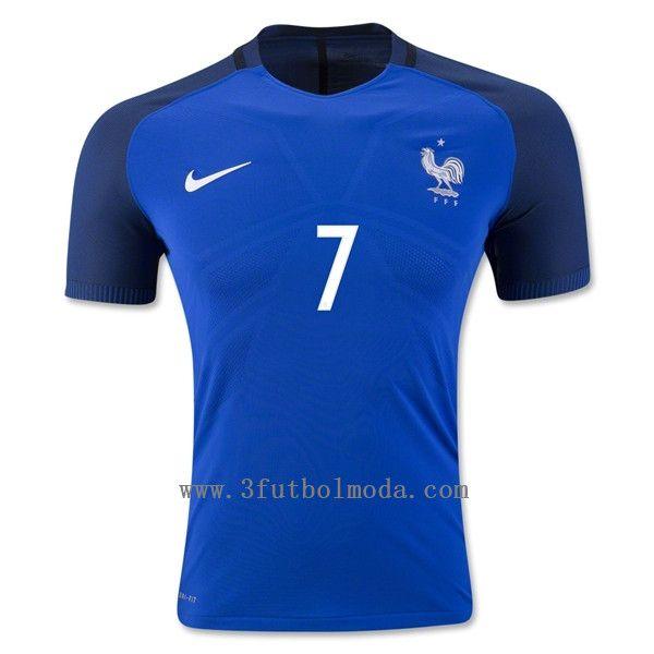 af6f8085aa756 Francia 2016 primera equipacion azul camiseta de futbol