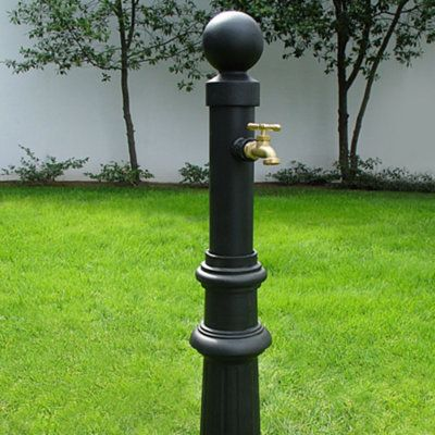 Put An Outdoor Faucet Within Easy Reach With This Decorative Faucet Post.  This Faucet Extender Is Pre Plumbed With 18 In Ground Piping.