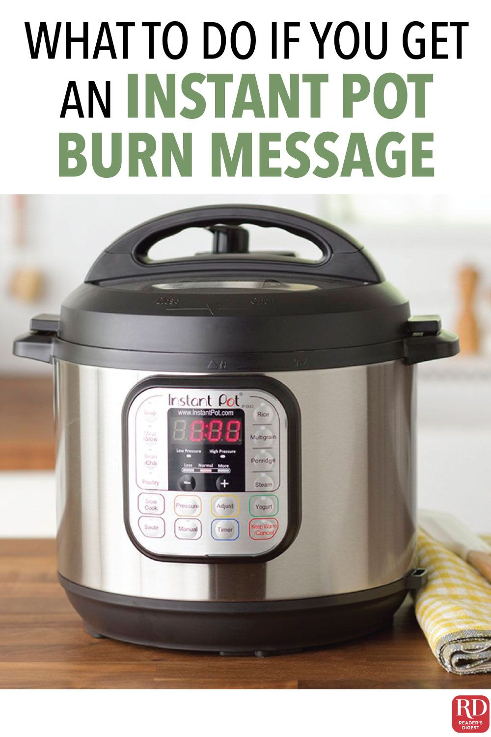 Getting an instant pot burn message heres what to do