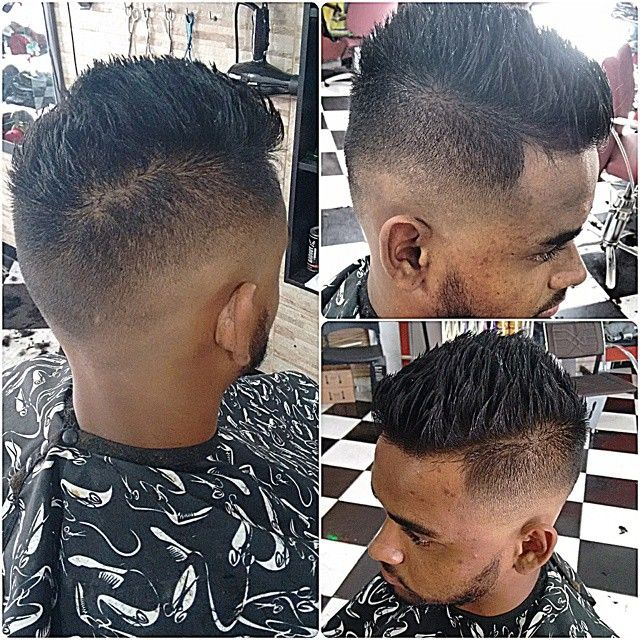 High Top Fade Haircut And Spiky Hairstyle for Men