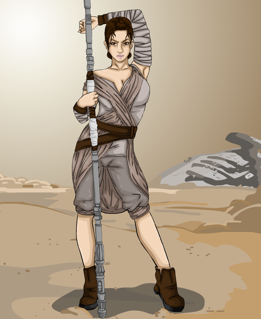 Rey, from Star Wars Episode VII The Force Awakens.