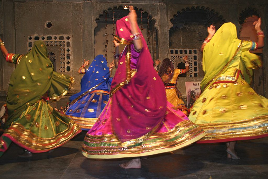 Folk dance of rajasthan colorful culture is expressed by