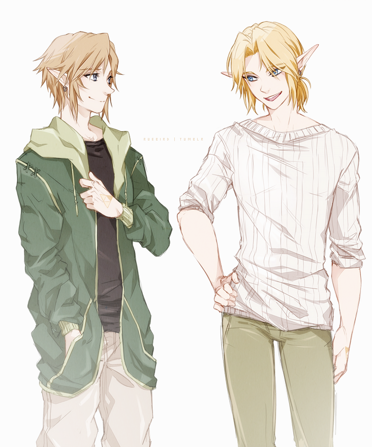Link's in modern clothing! Click for full size. bless the