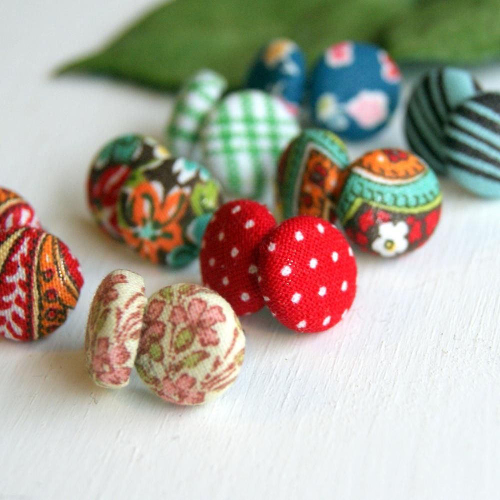 Design Your Own Fabric Stud Earrings Set