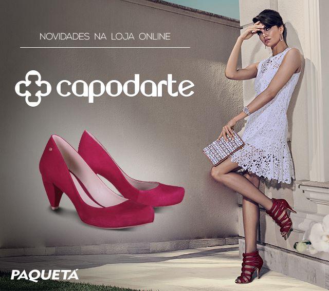 Chegaram na loja online os calçados de design sofisticado da #Capodarte! #Fashion #Shoes