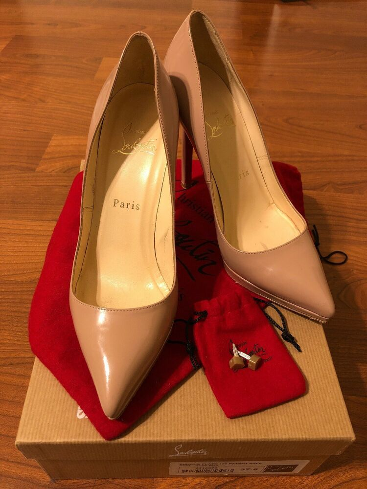 a460778167 ENDING SOON: Christian Louboutin Pigalle Plato 120mm Nude Patent Sz 37.5 # shoes #designer