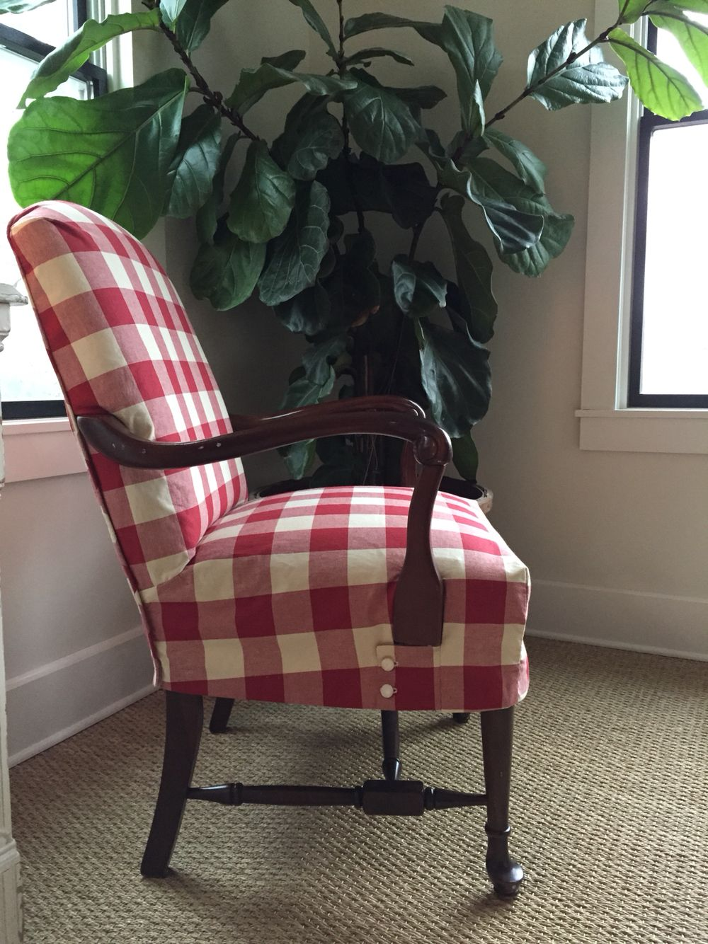 Buffalo check slipcover slipcovers for chairs wingback