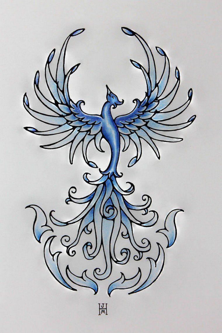 Tatouage Phoenix Significations Et Idees En Images Siuvinėjimas
