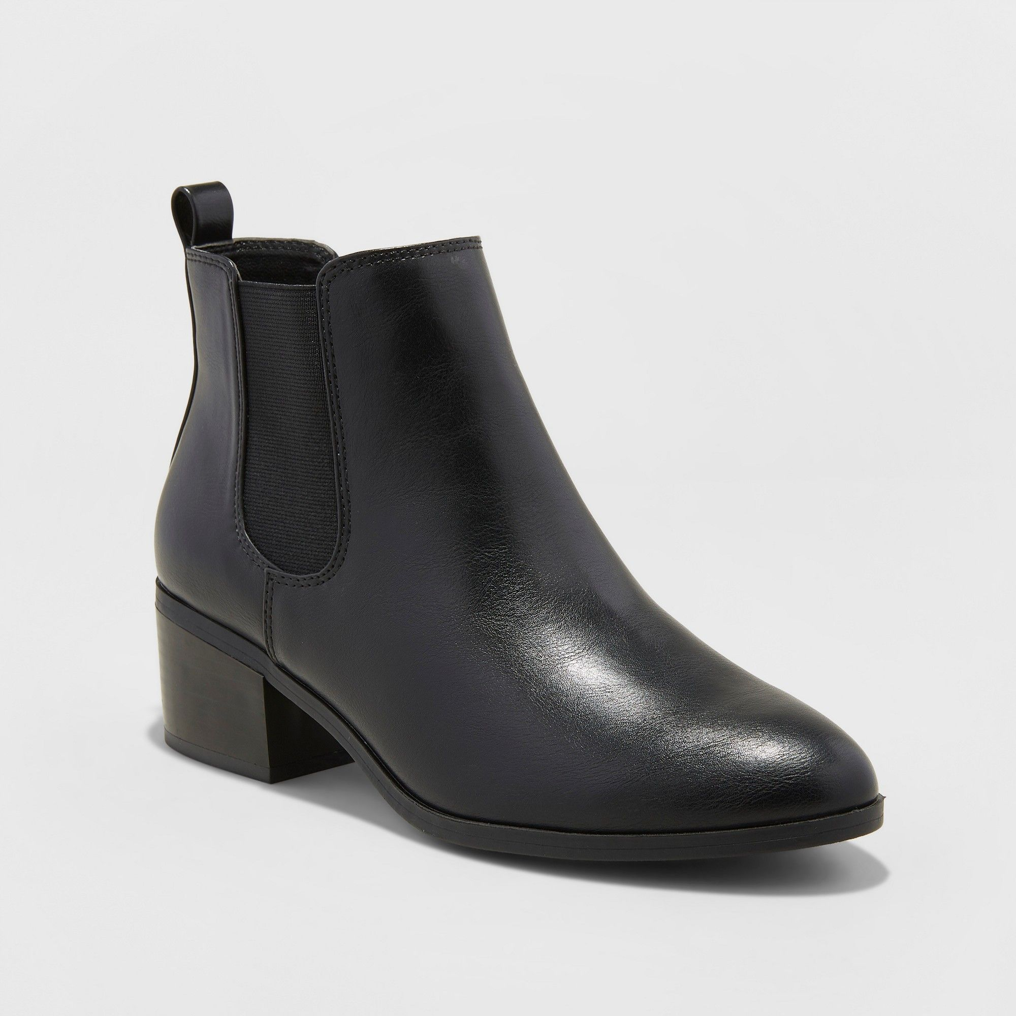 wide womens brown leather chelsea boots