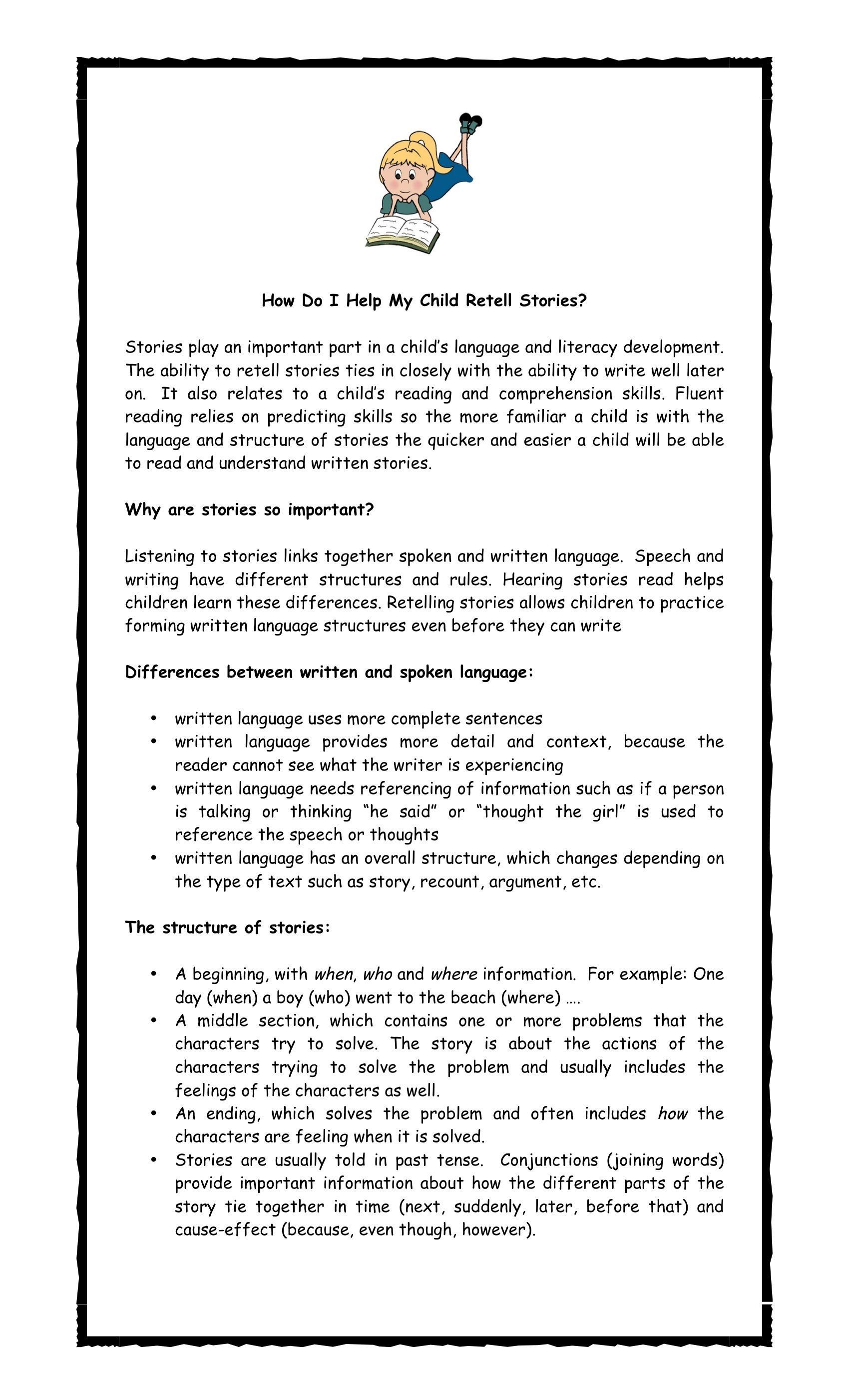 How To Teach Children To Retell Stories 1