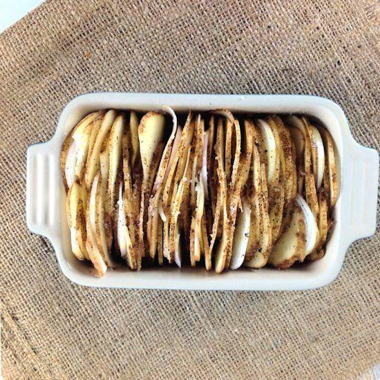 Roasted Accordion Potatoes