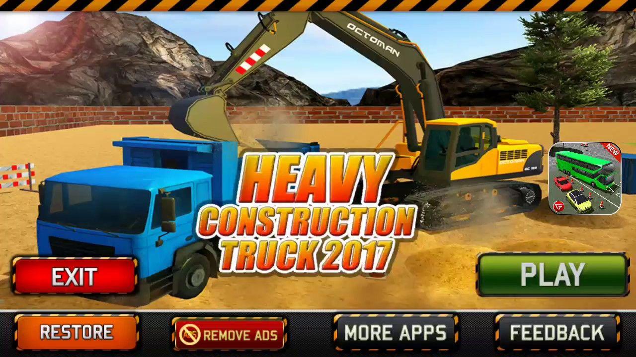 Car Games 2017 | Heavy Excavator Crane Builder Sand Digger