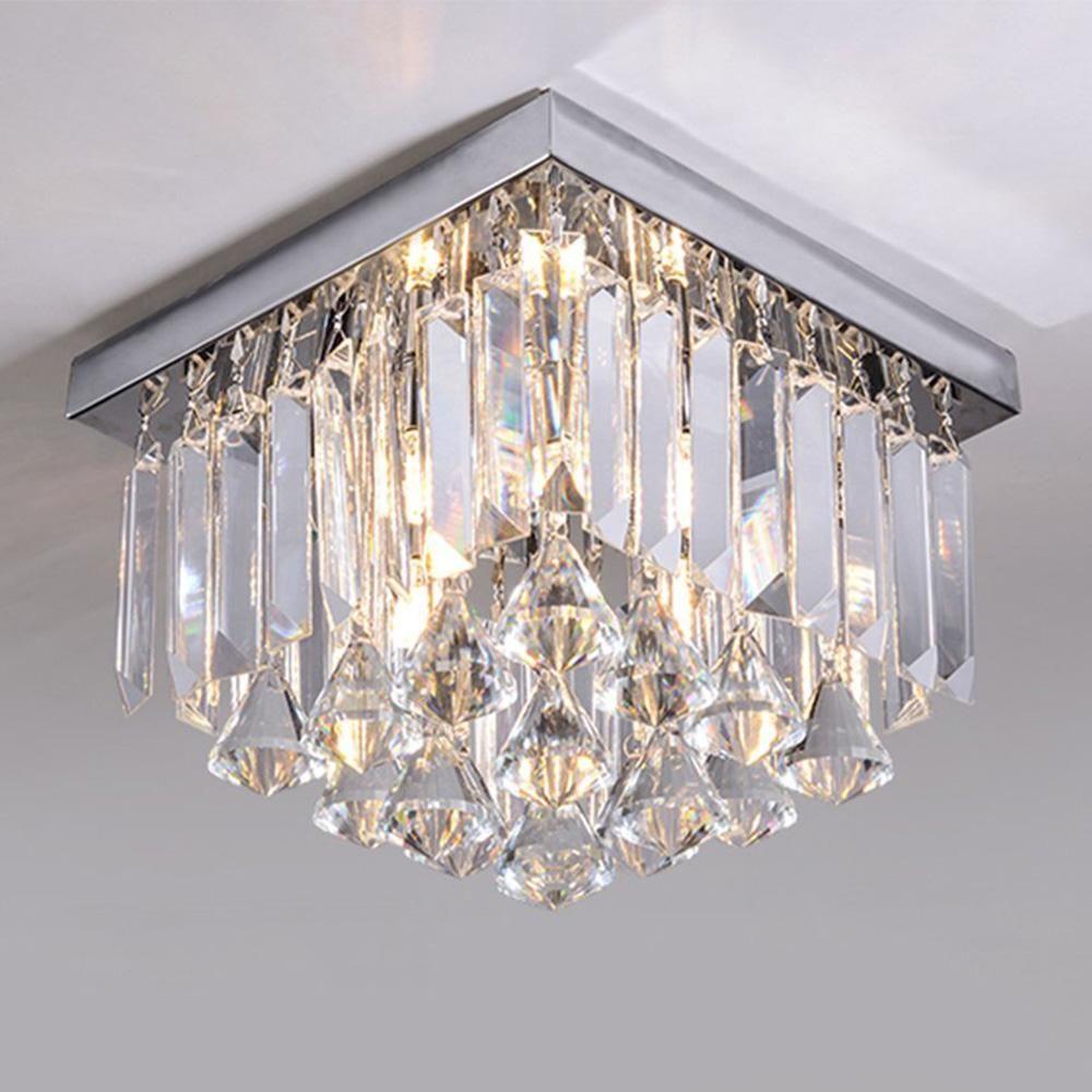 Modern Design Crystal Ceiling Light Flush Mount Corridor Lamp Crystal Ceiling Light Ceiling Lights Flush Mount Ceiling Lights