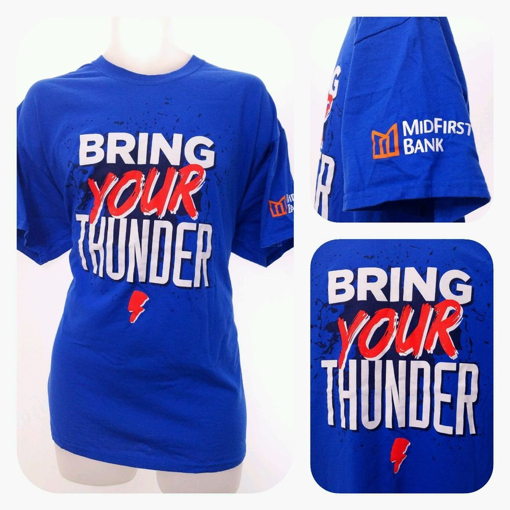 c616e32882b ... NBA OKC BRING YOUR THUNDER XL Shirt 2016 Playoff Game Westbrook MVP  Blue Gildan ...