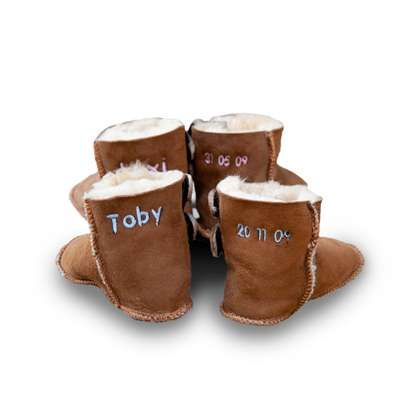 d624fa5e17c Image of Personalised Sheepskin Booties | baby baby baby | Ugg boots ...