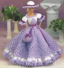 Patrones de vestidos a crochet para munecas