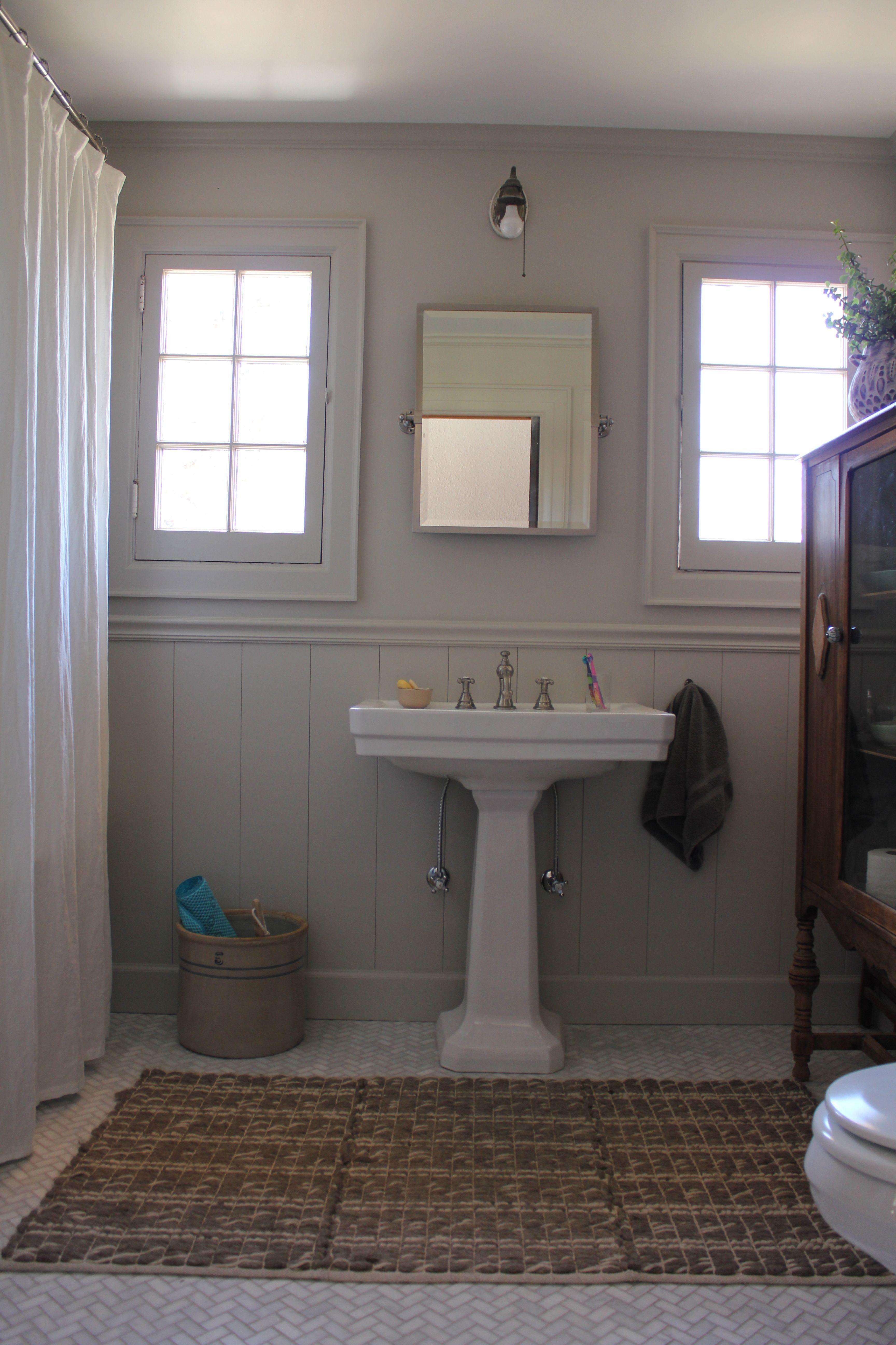 Pedestal Sink Pottery Barn Swivel Mirror Antique Cabinet