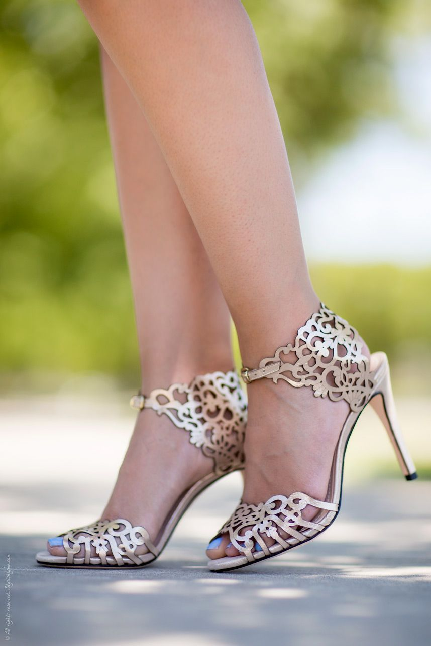 Adding Metallic to Your Summer Outfit. Sandals WeddingBridal ShoesStreet  Style ...