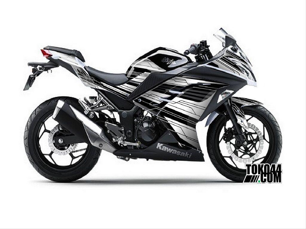 Design sticker ninja 250 - Decal Sticker Modifikasi Kawasaki Ninja 250 Fi Se Special Edition Abs Putih Techno