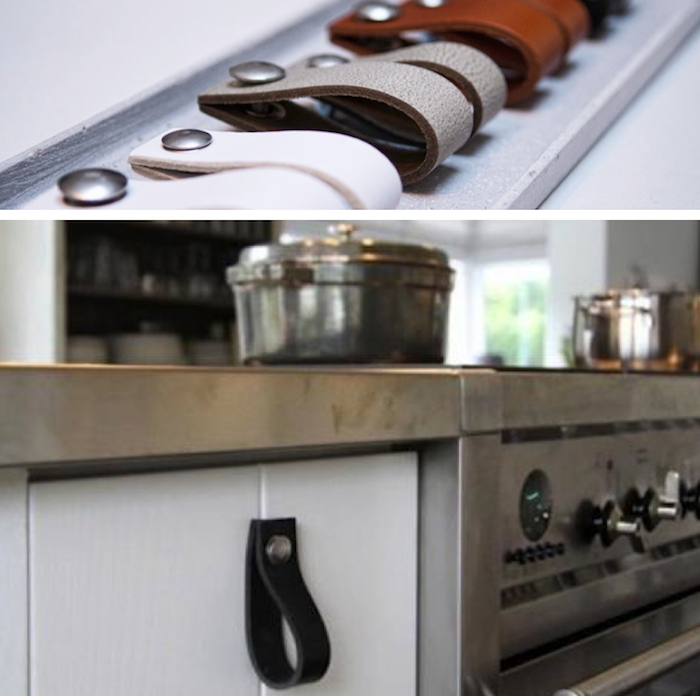 Nu Interieur Drawer Pulls, Remodelista Leather pulls for kitchen ...