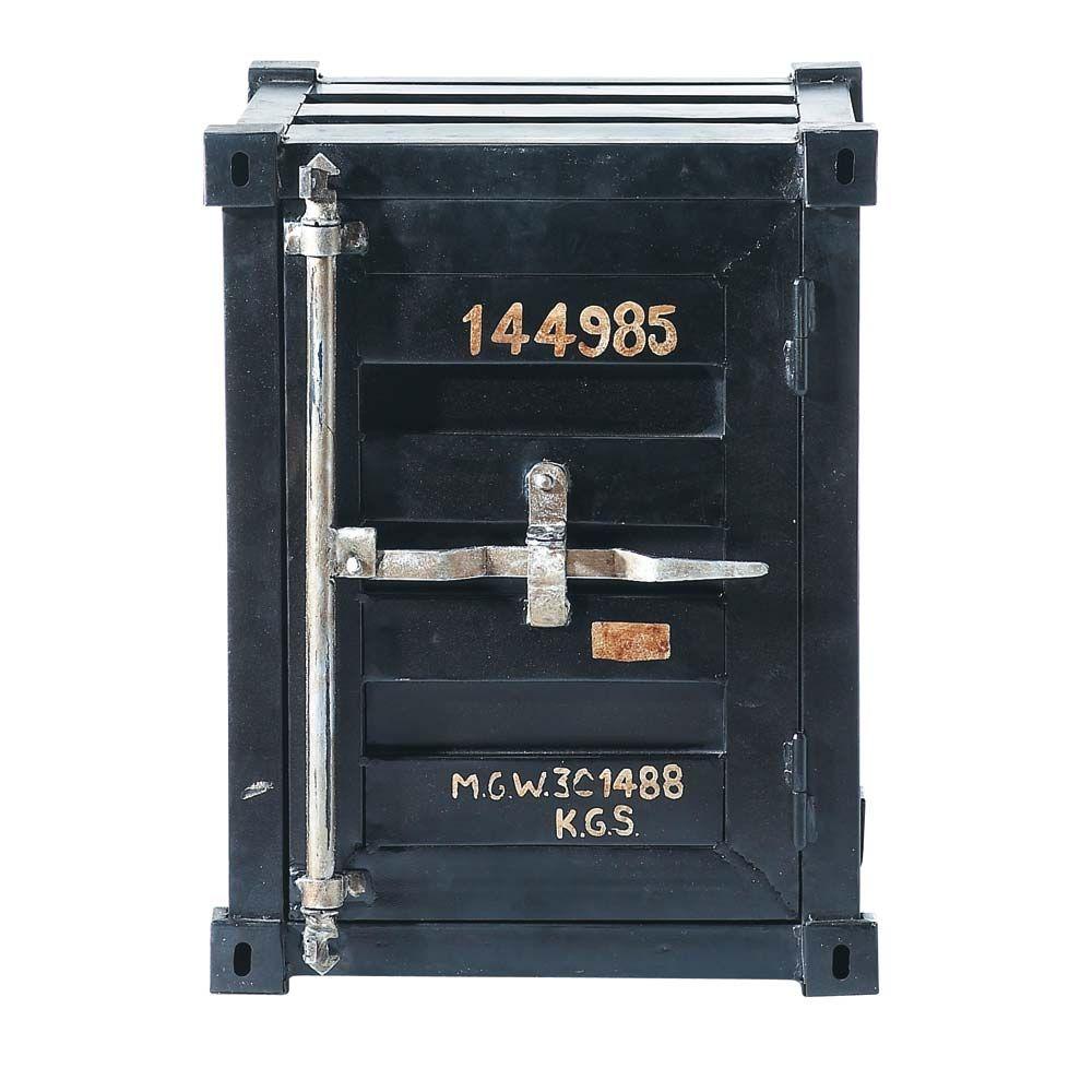 Bout De Canap Container En M Tal Noir L 46 Cm Bout De Canap  # Meuble Metal Maison Du Monde