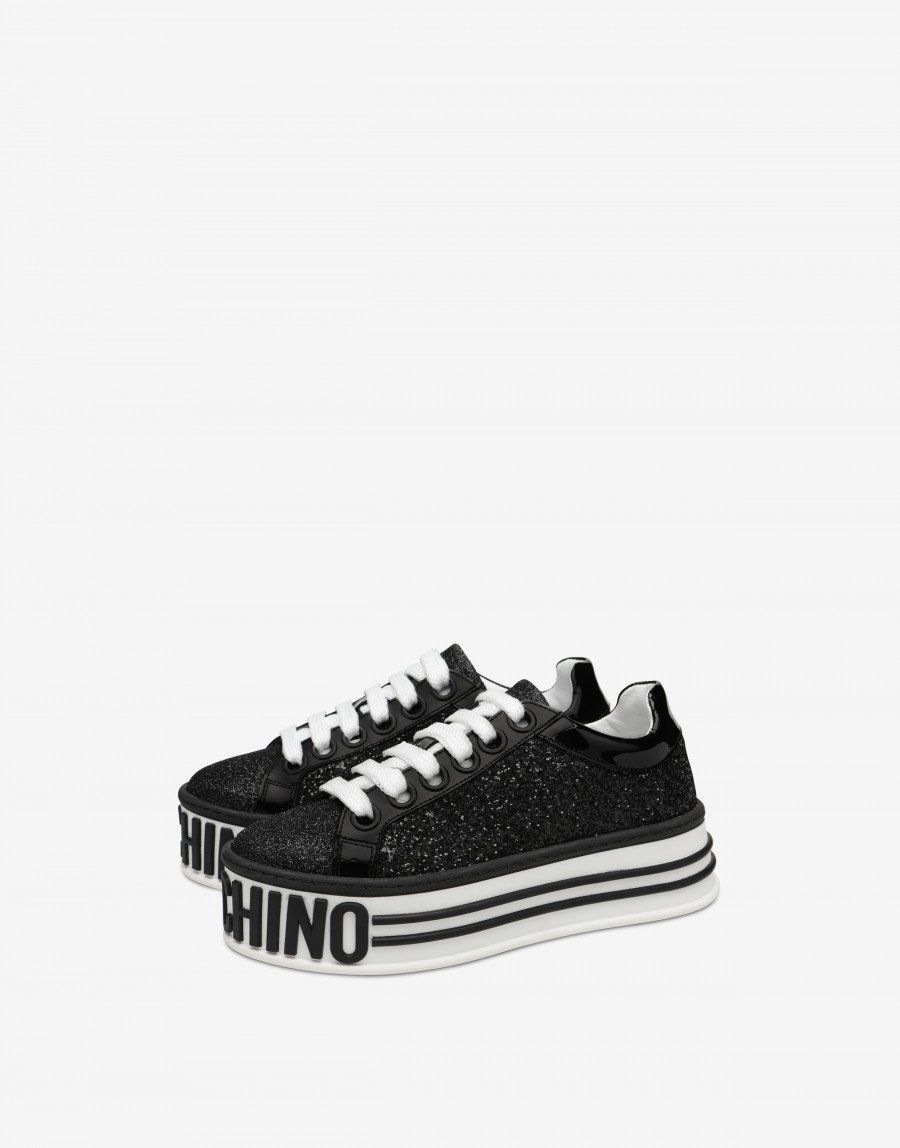 54d9aa702cba Glitter Platform sneakers - SS19 Shoes - SS19 COLLECTION - Moods - Moschino