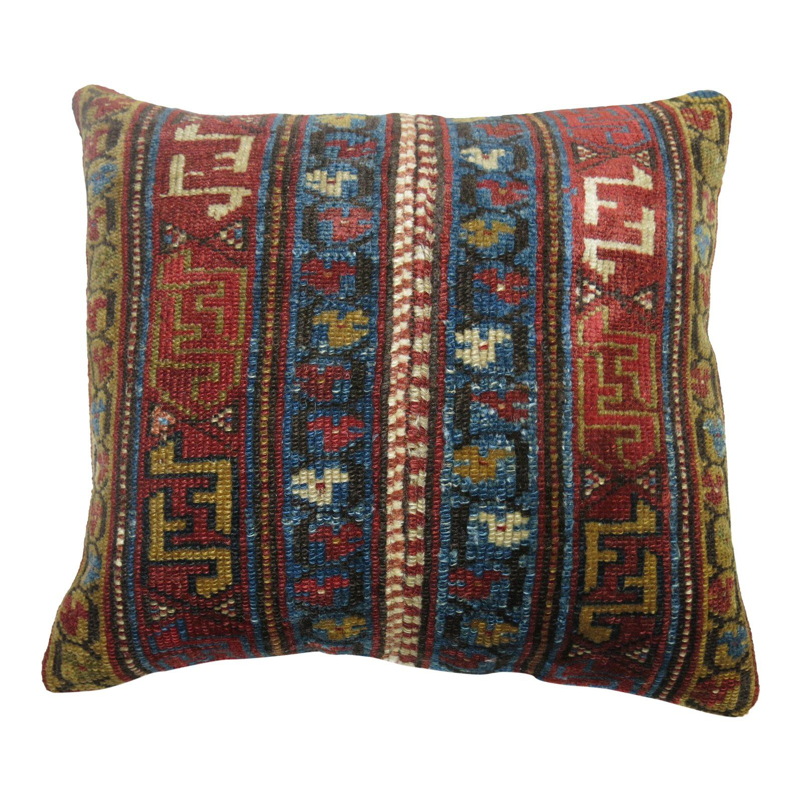 Antique Persian Rug Throw Pillow
