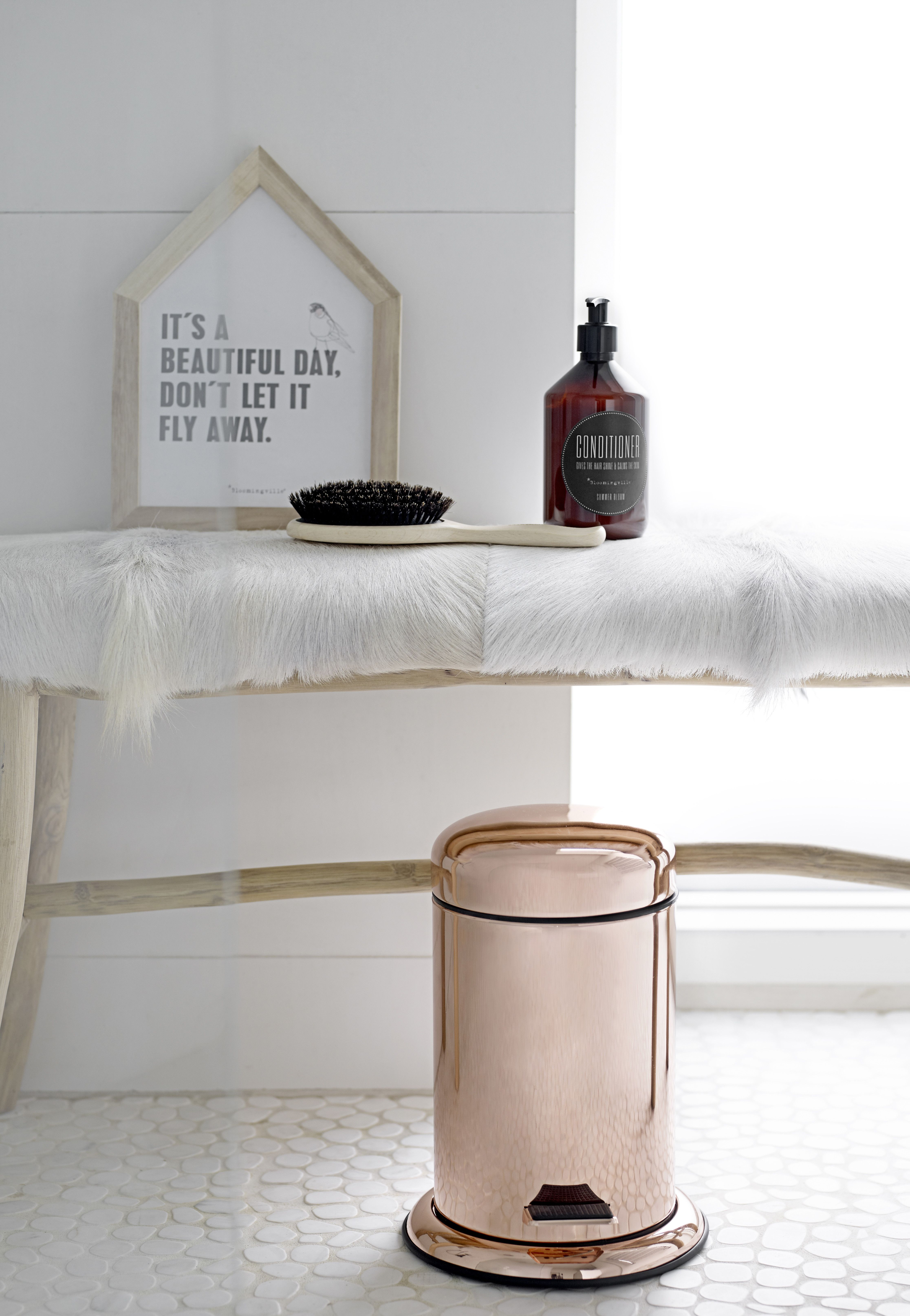 Meuble Salle De Bain Cooke Et Lewis Calao ~ poubelle de salle de bain en mtal cuivr bloomingville t