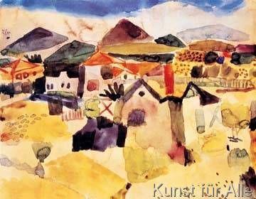 Paul Klee - Ansicht von Saint Germain