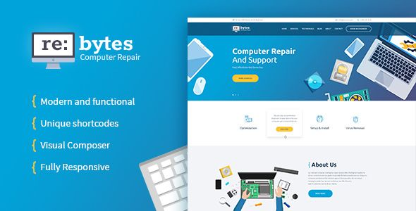 Re:bytes | Computer Repair Service WP Theme