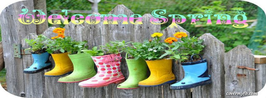 Spring Accommodation Facebook Covers: Welcome Spring Facebook Covers, Welcome Spring FB Covers