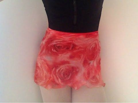 DIY: Ballet Wrap Skirt Tuturorial - YouTube