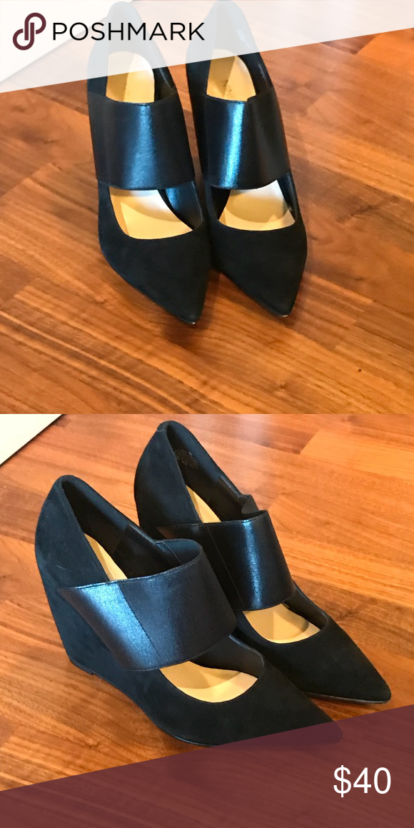 be03c01f2bab Nine West Pointed Toe Wedge Pumps Nine West Pointed Toe Wedge Pumps. Suede  size 7. New. Nine West Shoes Wedges