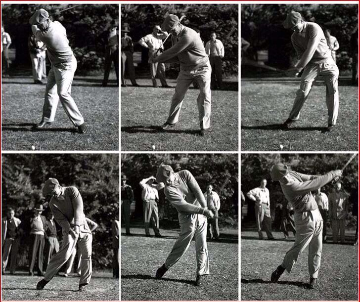 Ben Hogan Swing Sequence Caddy view