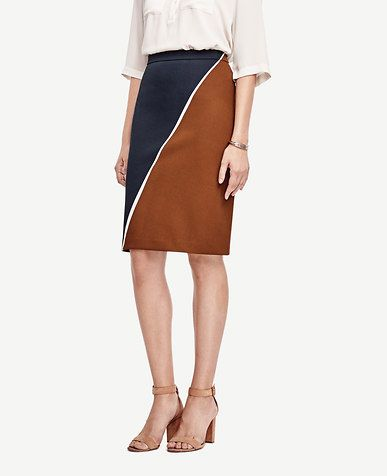 f8465d0d121ee1 Colorblock Pencil Skirt x Ann Taylor | Skirts in 2019 | Skirts, Long ...